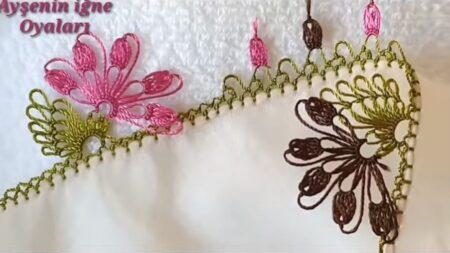 En Gösterişli Çiçek İğne Oyası Modelleri 2