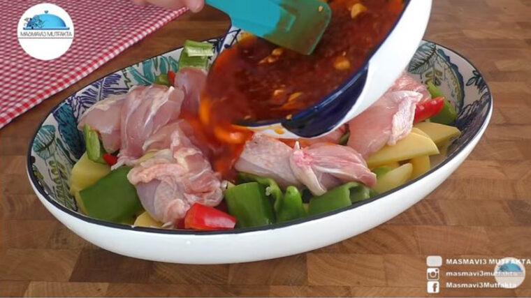 İftara Fırında Tavuklu Yemek Tarifi 1