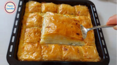 Ortası Lezzet Bombası Sütlü Baklava Böreği Tarifi 3